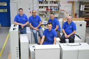 Gruppenbild der ETP-Werkstatt-Mitarbeiter