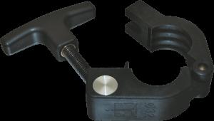 Von Tartler entwickelte Schlauchklemme für 32er Schläuche mit kraftübertragendem T-GRiff