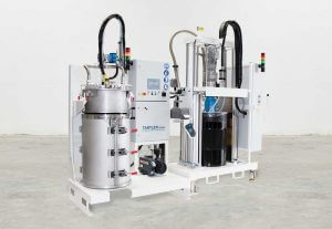 Vacuum station TAVA F with filling system NODOPOX