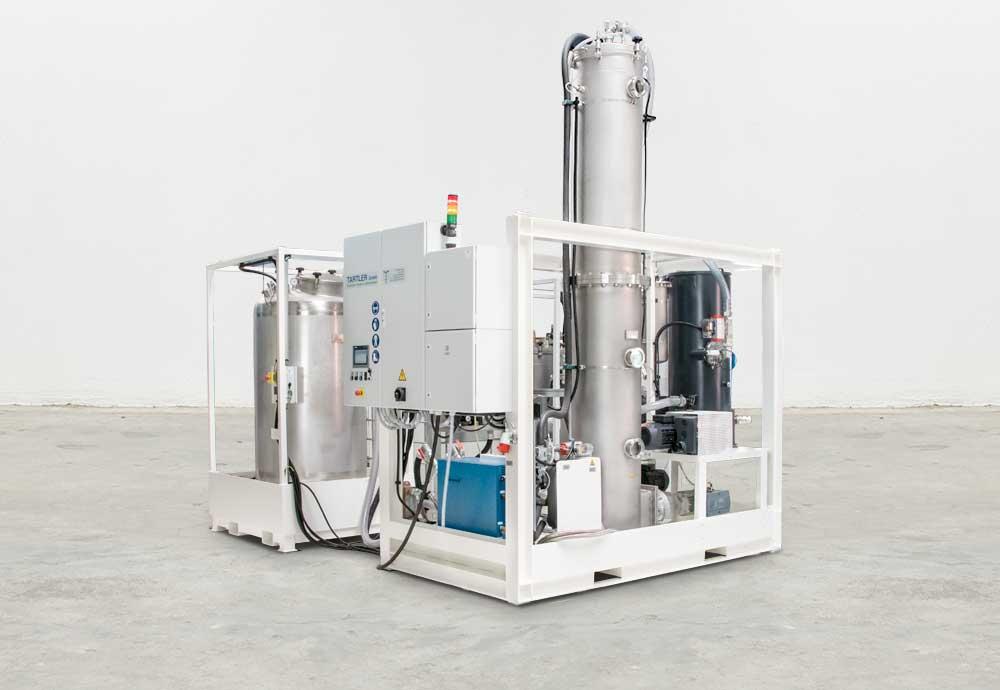 Vacuum degassing station T-EVAC