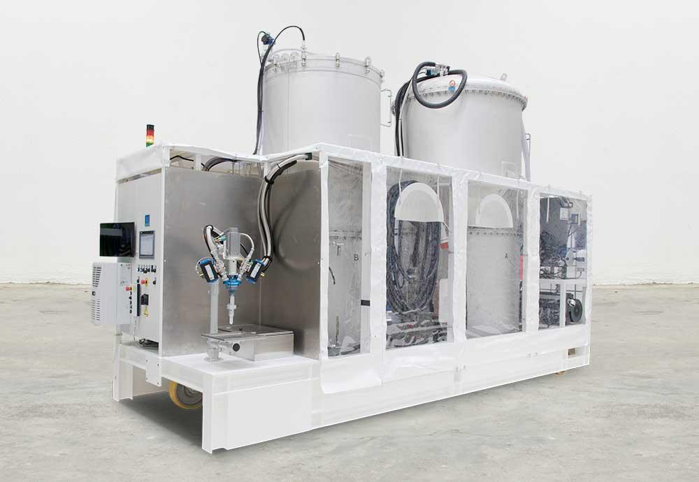Direkt Infusionsanlage NODOPUR mit Inline Entgasungsmodul T-EVAC